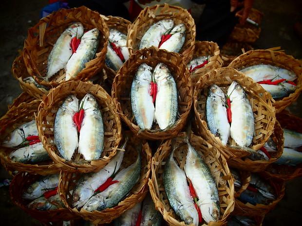 Cai Rang market Vietnam, before my bun rieu