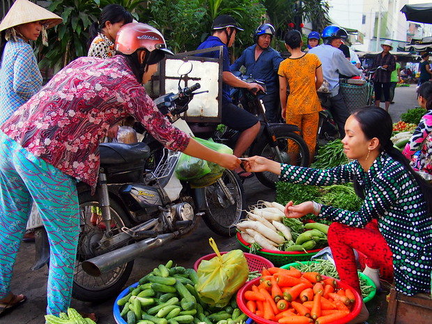 Cai Rang Market in the Mekong Delta of Vietnam