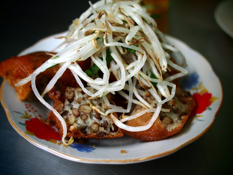 Fried mung bean cakes.