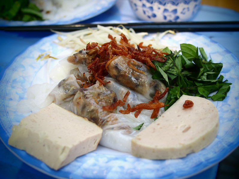 Banh cuon on the streets of Saigon