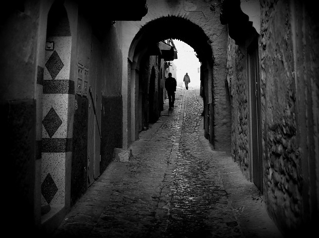 Chefchaouen, Morocco in Black and White