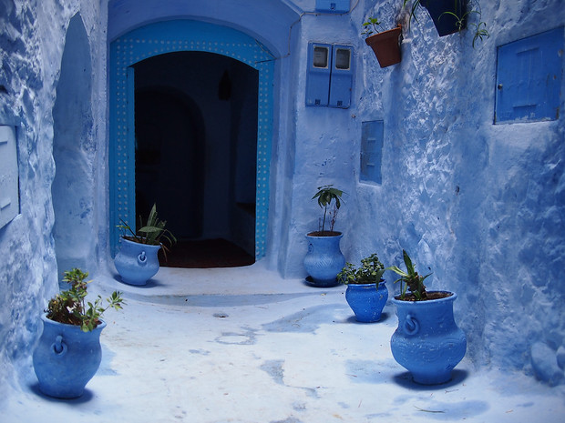 Shades of blue in chefchaouen