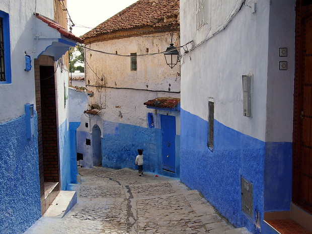 Chefchaouen medina and its quiet alleyways