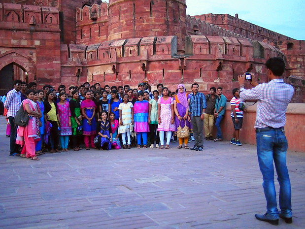 Group photo in red fort Agra