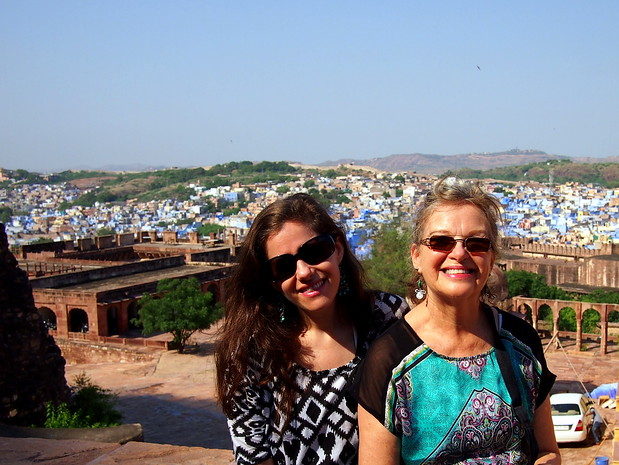 My mum and I in Jodphur