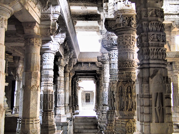 Ranakpur, a beautiful Jain temple near Udaipur in Northern India