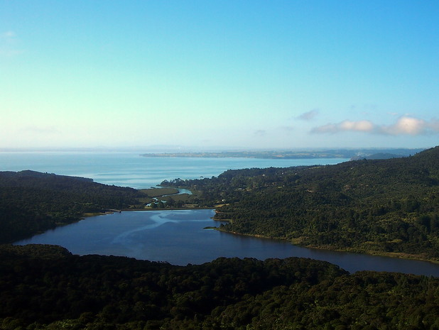 Manukau harbour from the Arataki visitor Center