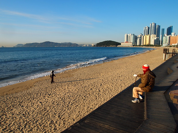 Haewoondae Beach, South Korea by Sung Chang