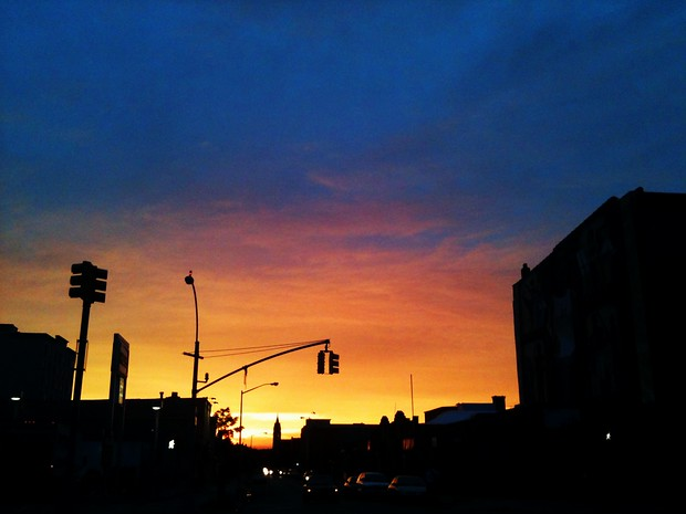 A Brooklyn Sunset from 4th Avenue in Park Slope
