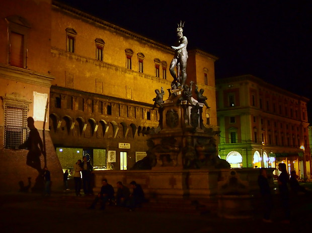 Giambologna's Fountain of Neptune in Bologna