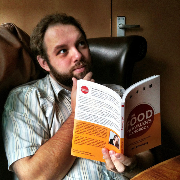 Cale Ettenberg with the Food Traveler's Handbook