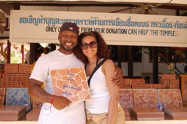 Rachel Rodgers and husband in Ko Samui, Thailand