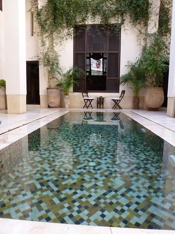 Poolside in Morocco