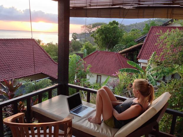 Allison Suter Working in Bali