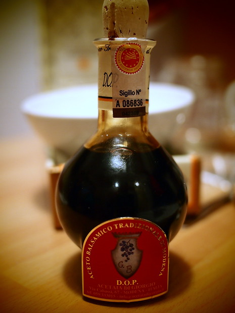 Balsamico from Modena. This was decades old and so incredibly sweet and thick - we ate it with a spoon and a fistful of fresh Parmesan
