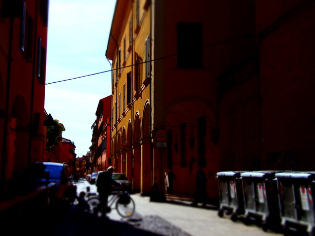 Downtown Bologna.