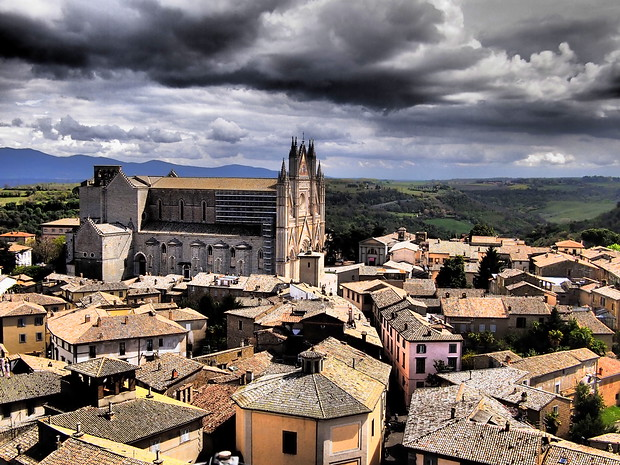 A view of Orvieto from atop the Torre del Moro