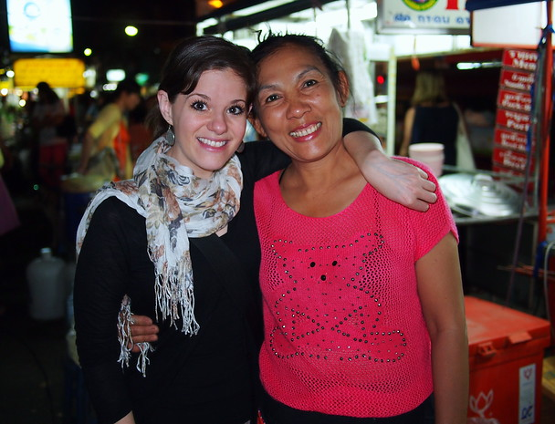 Me and Mrs. Pa, the best smoothie lady in Chiang Mai