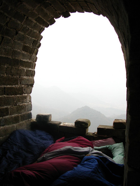 camping on the great wall of china