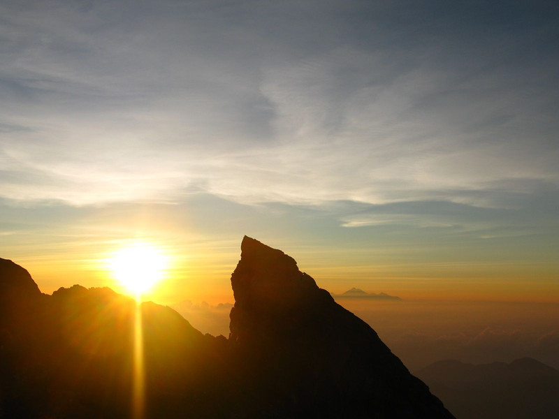 Sunrise over Gunung Agung in Bali