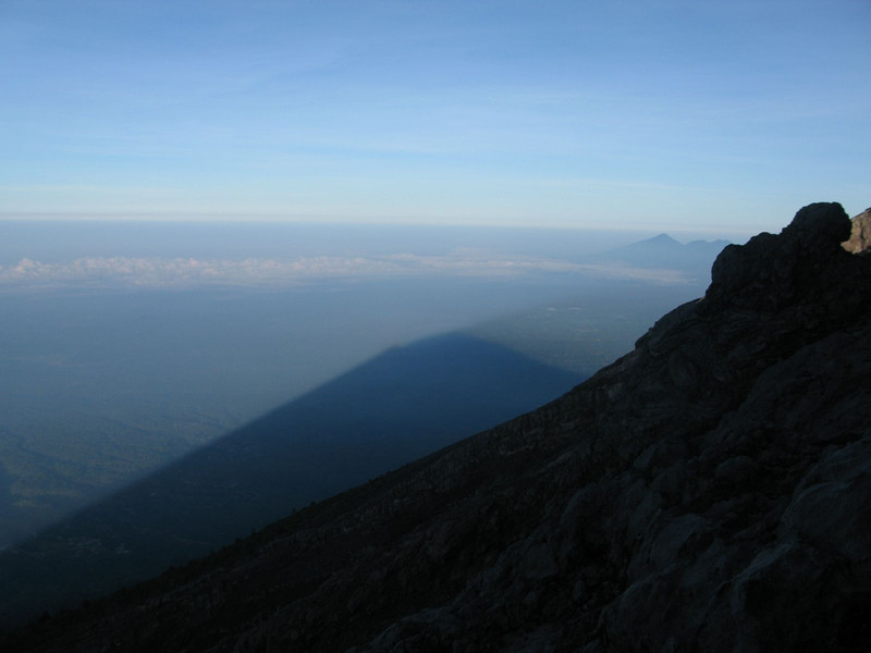 shadows of Gunung Agung in Bali