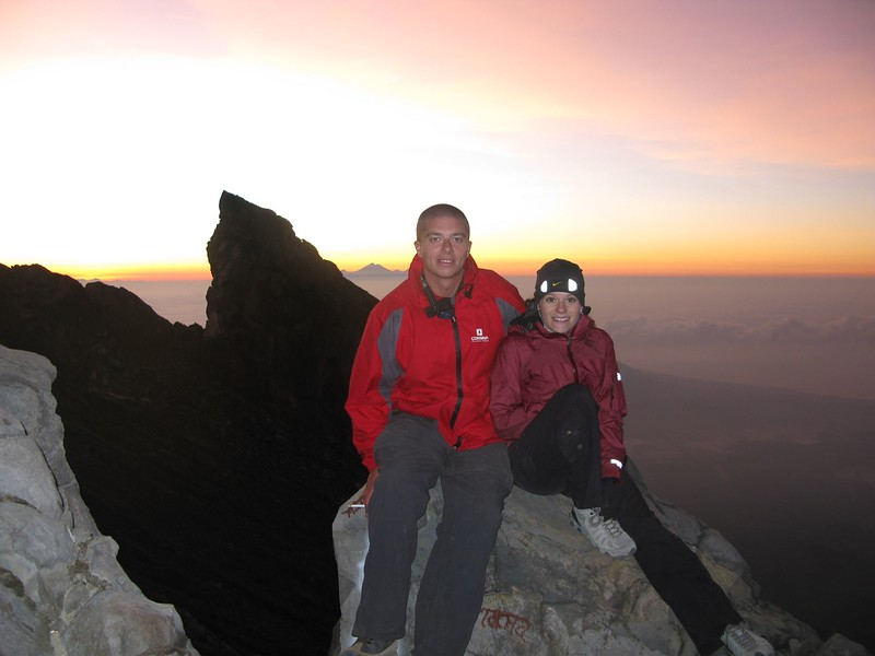 Allen and I at the summit of Gunung Agung in Bali