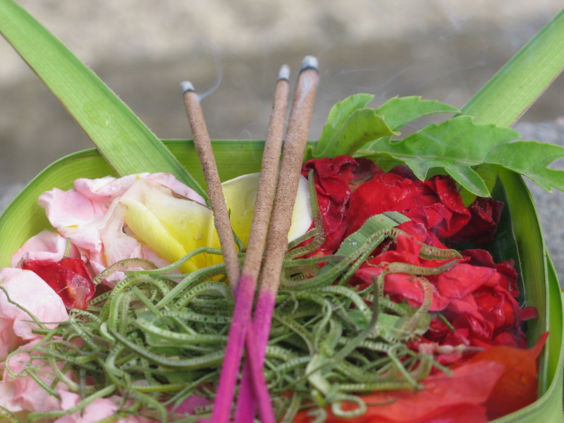 Typical Balinese offering