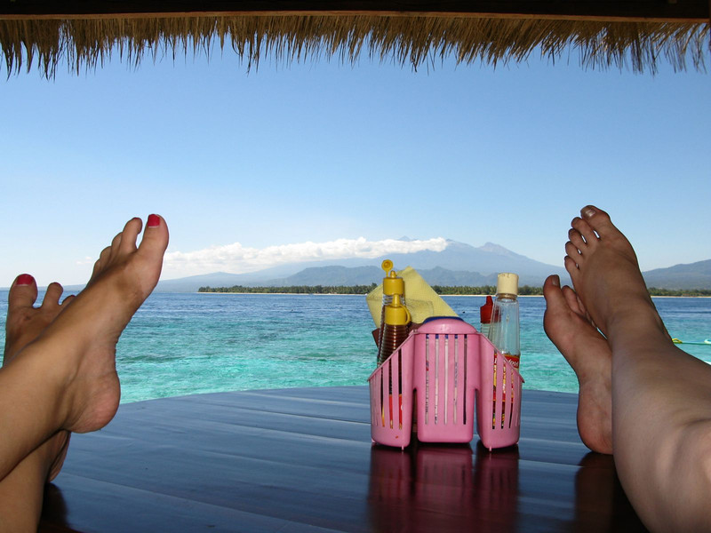 Relaxing on the Gili Islands in Indonesia