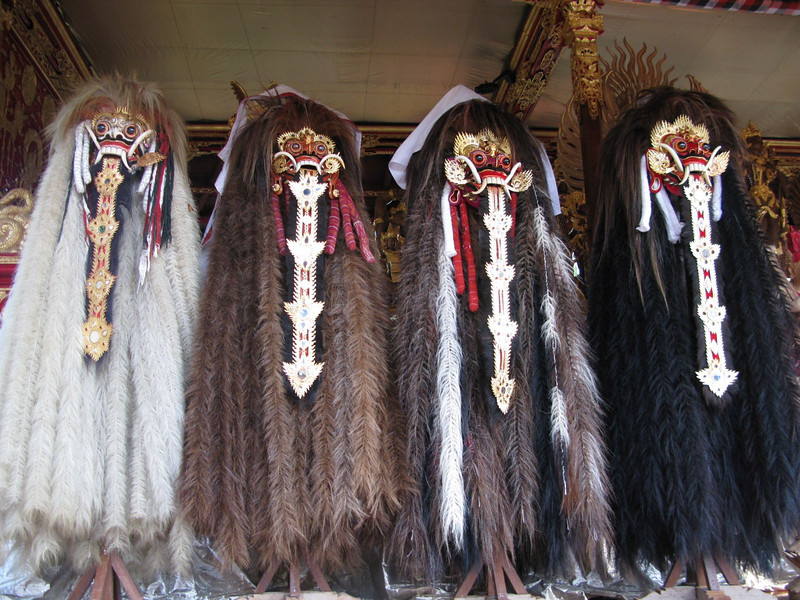 traditional balinese masks with hair