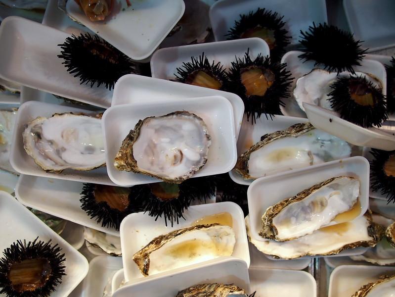 fresh seafood in kanazawa - definitely gluten free