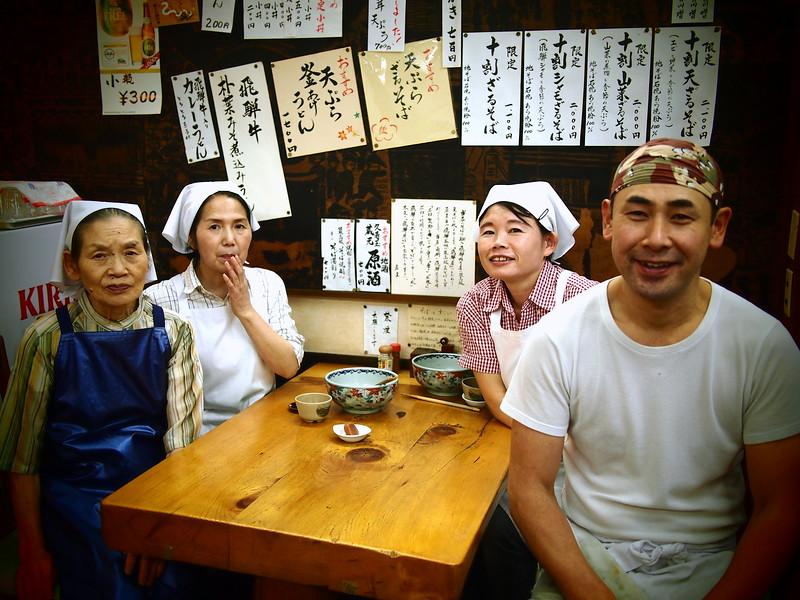 eating soba and ramen soup in Takayama