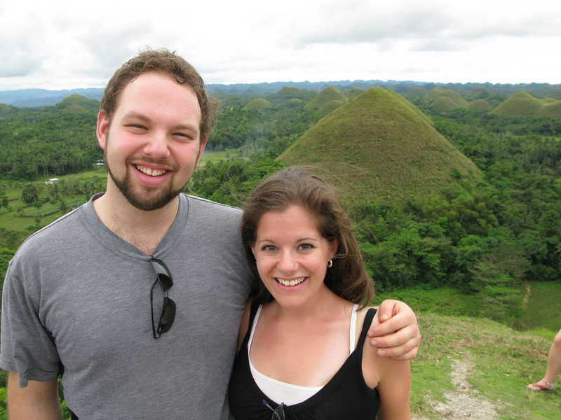 me and my brother at the chocolate hills in bohol