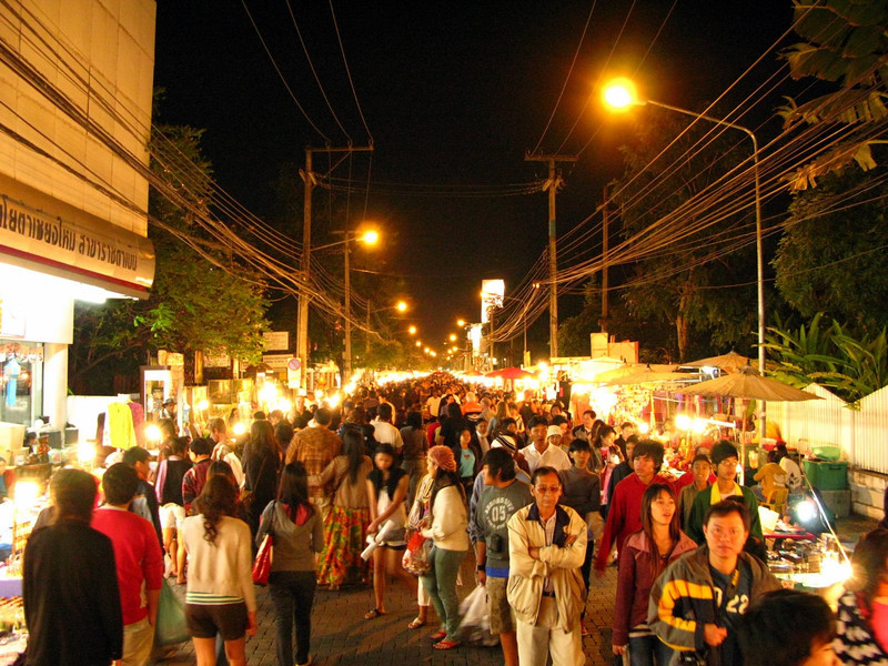 Sunday night walking street in Chiang Mai