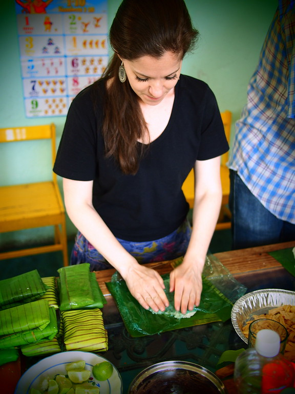 tamale lessons in oaxaca