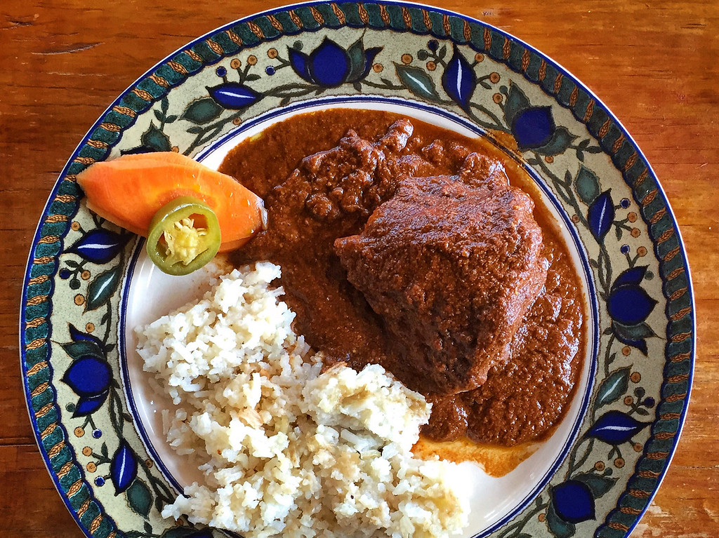 gluten free mole coloradito in oaxaca
