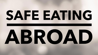 Safe Eating when traveling